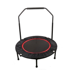 Factory wholesale indoor mini fitness trampoline with safety handle bar