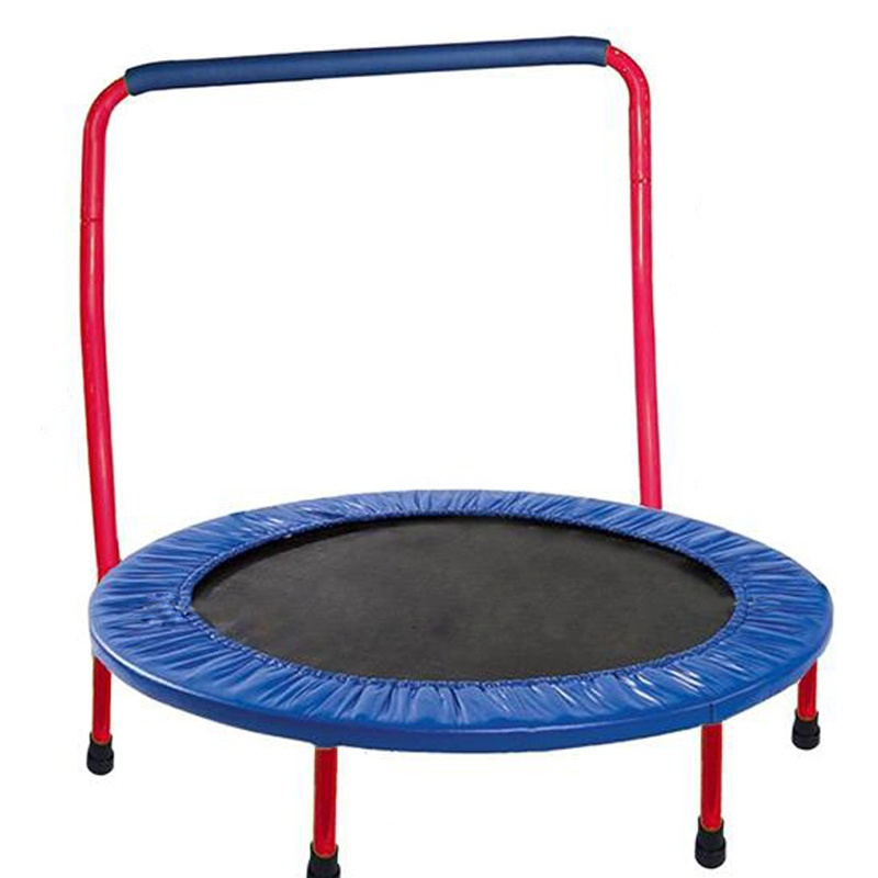 Tengtai indoor foldable fitness mini trampoline with safety handle bar